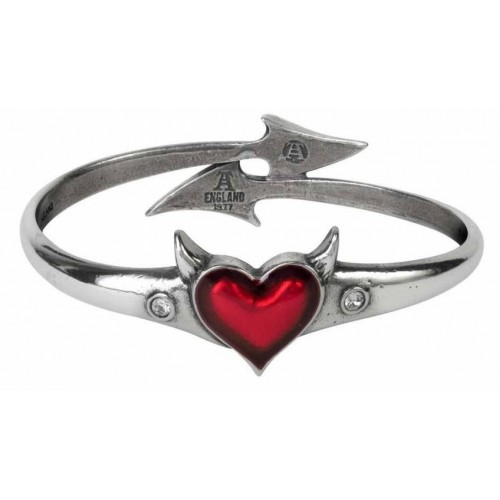 Alchemy Gothic Devil Heart Bangle Bracelet