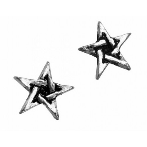 Alchemy Gothic Pentagram Stud Earrings