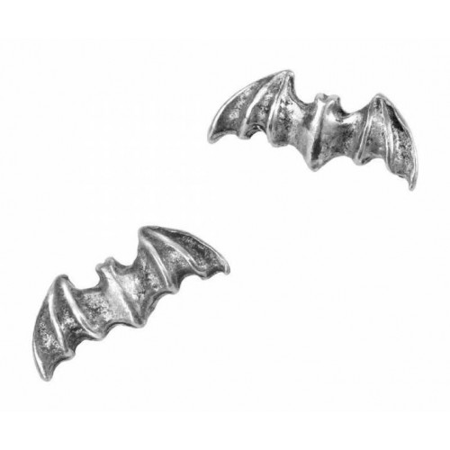 Alchemy Gothic Bat Stud Earrings