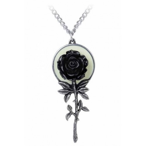 Alchemy Gothic Luna Rose Pendant Necklace