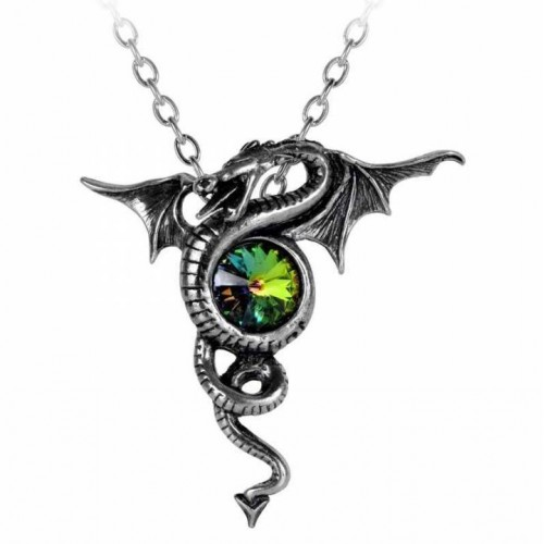 Alchemy Gothic Anguis Aeternus Dragon Pendant Necklace