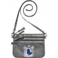 Earth Squared Embroidered Pouch Shoulder Cross Body Bag
