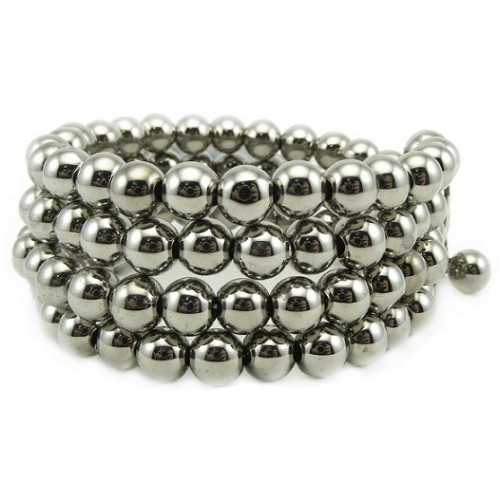Silver Beads Four Layer Bracelet