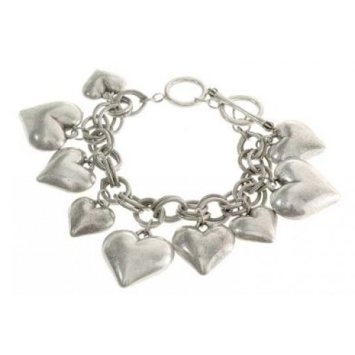 Heart Charms Chain Bracelet