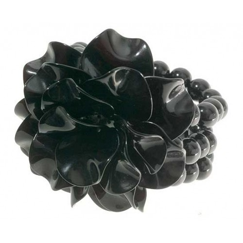 Black Rose Three Layer Beads Bracelet