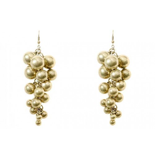 Cluster Bead Drop Earrings