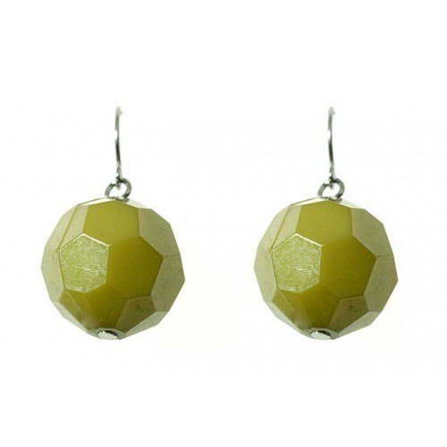 Facet Bead Drop Earrings