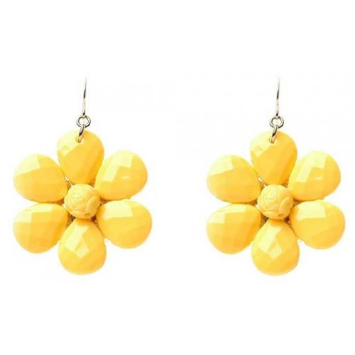 Daisy Flower Drop Earrings