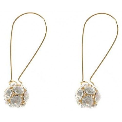Diamante Bead Drop Earrings