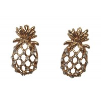Pineapple Rhinestones Stud Earrings