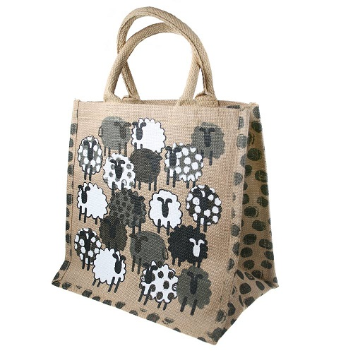 Jute Hessian Laminated Bag Eco Shopper Animal Print
