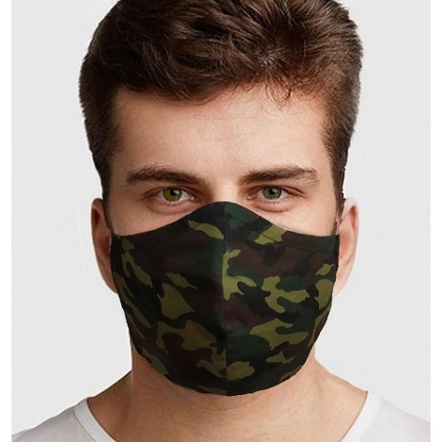 Adult Face Mask Handmade in Cotton with Filter Pocket and Nose Strip