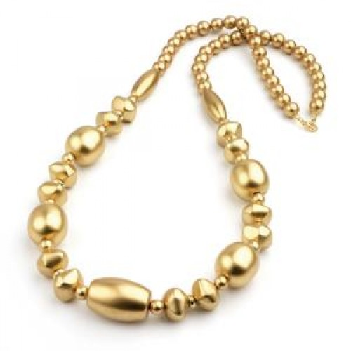 Gold Beads Long Necklace