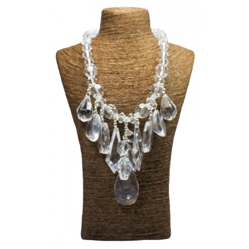 Teardrop Crystal Beads Necklace