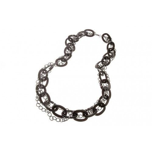 Black Braided Chain Necklace