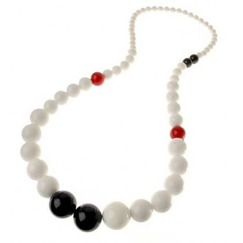 Retro Beads Long Necklace