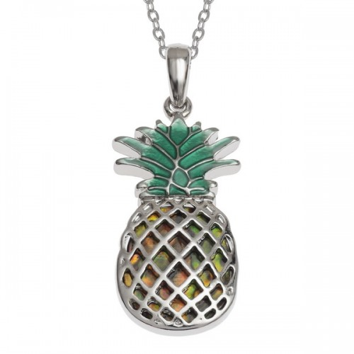Pineapple Abalone Paua Shell Pendant Necklace