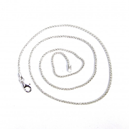 Italian Sterling Silver Pop Corn Chain 16""