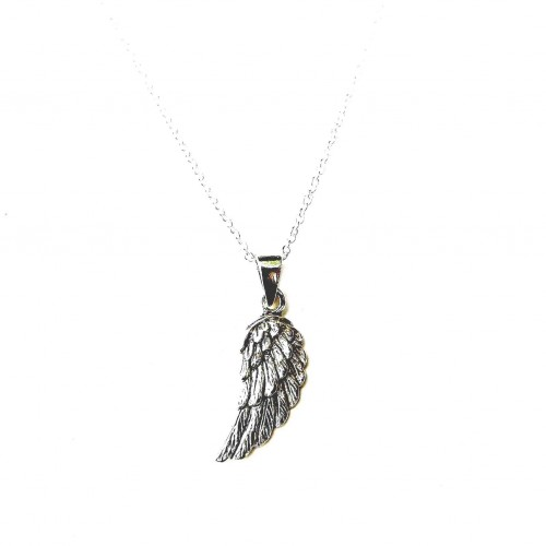 Sterling Silver Dainty Angel Wing Necklace