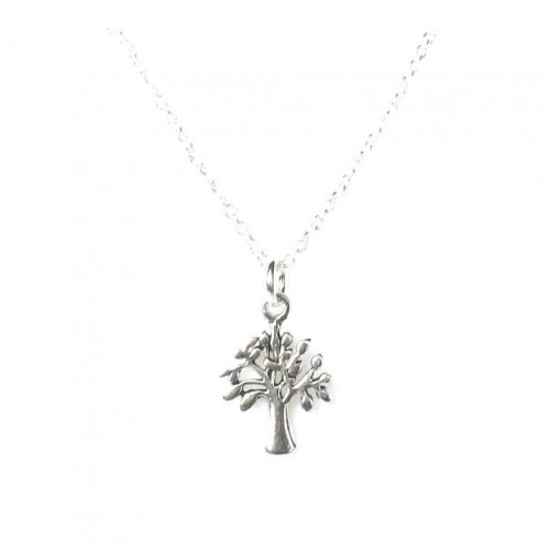 Sterling Silver Dainty Tree Necklace