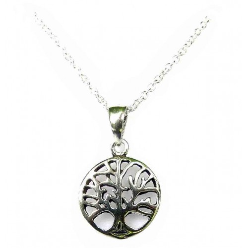 Sterling Silver Tree of Life Dainty Necklace