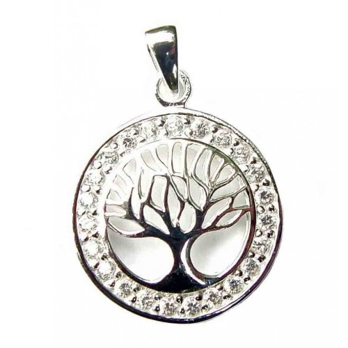 Sterling Silver Zirconia Tree of Life Pendant