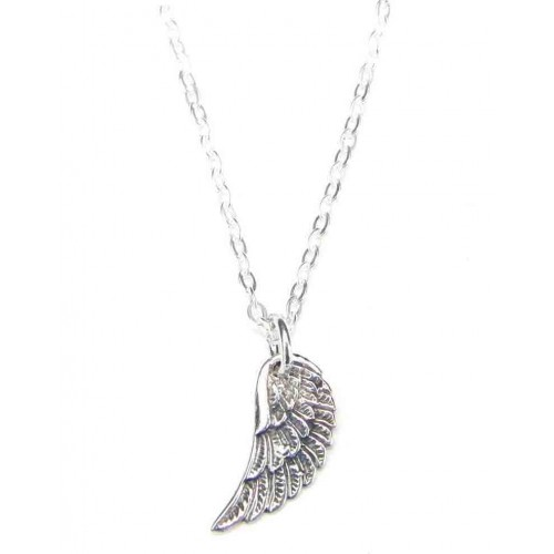 Angel Wing Necklace Sterling Silver