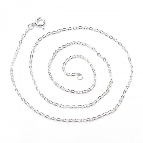 Italian Sterling Silver Cable Chain 18""
