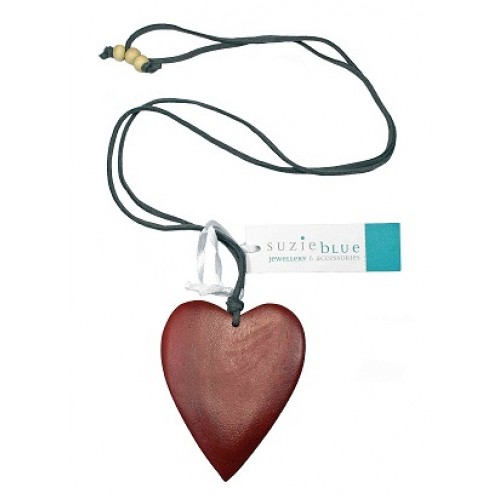 Heart Pendant Suede Necklace